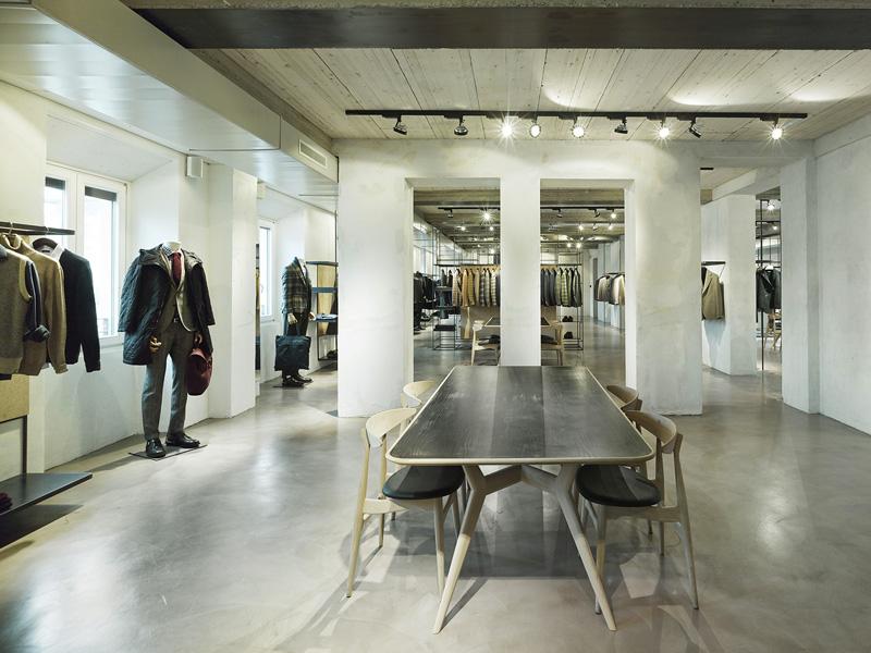 Progettazione interni showroom milano lardini 35a for Progettazioni interni