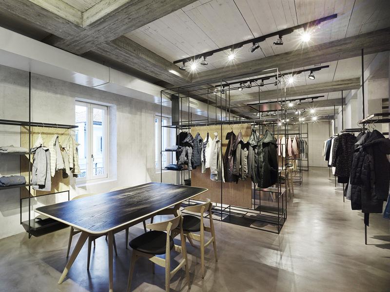 Progettazione interni showroom Milano - Lardini - 35a Studio di architettura