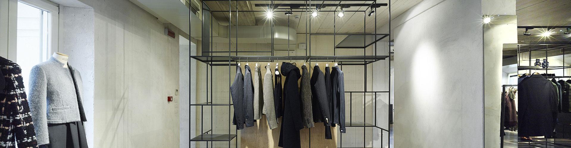 Progettazione interni showroom Milano - Lardini - 35a Studio di ...