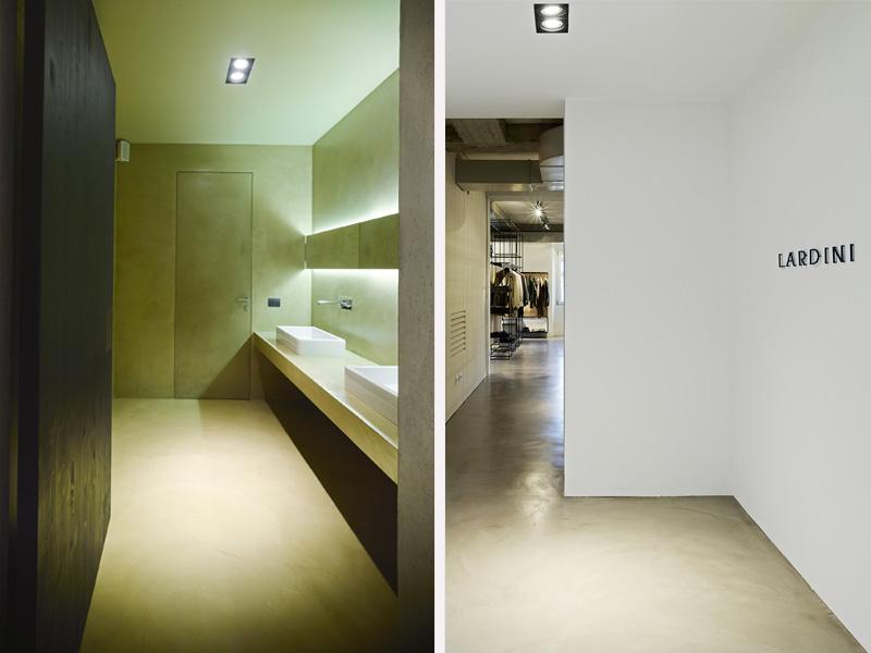 Progettazione interni showroom Milano u2013 Lardini Progettazione